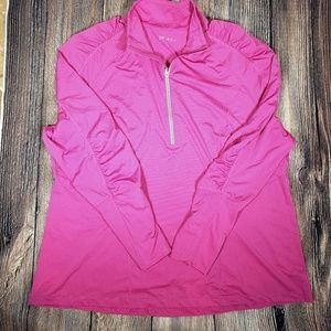 Zella athletic pullover pink 2X ruched